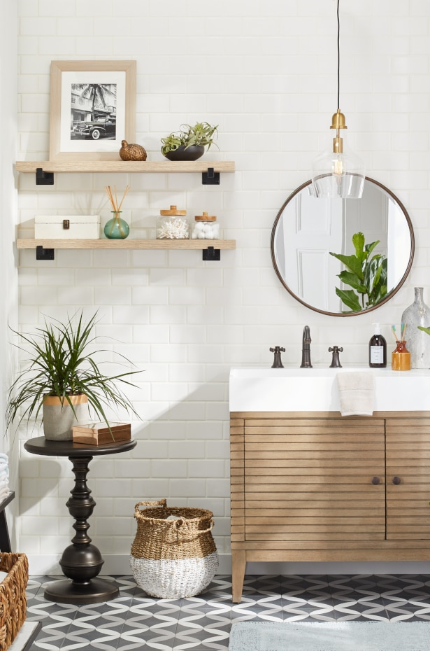 9 Small Bathroom Storage Ideas That Cut The Clutter Overstock Com