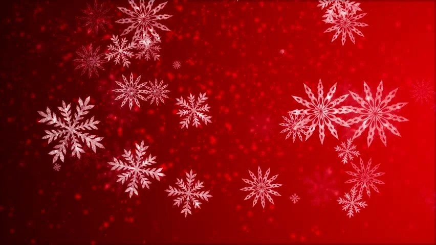 Video Animation Of Many Snowflakes Falling Stock Footage