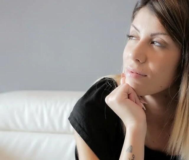 Woman Sensual Think Serenely