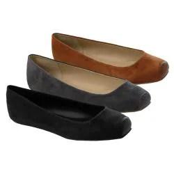 Glaze by Adi Women's Microsuede Snip Toe Flats