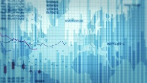 Financial Charts With Increasing Profits Blue And White Economy Background 2 Videos In 1 File