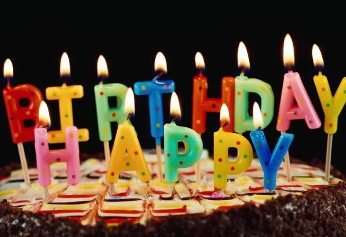 Festive Candles Happy Birthday On Stock Footage Video 100