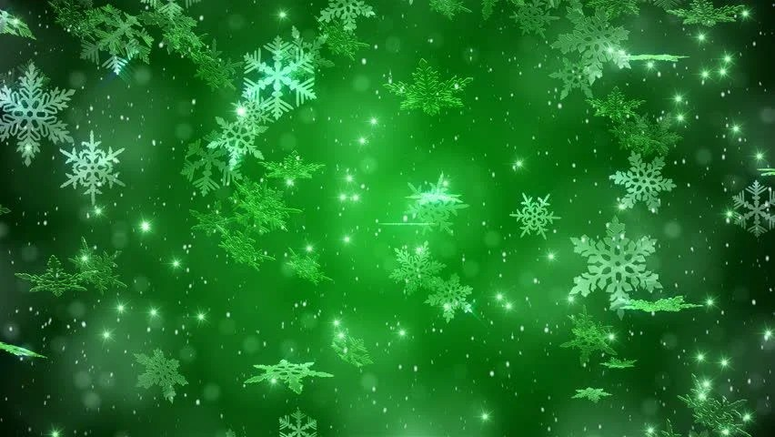Christmas Background With Snow And Snowflakes Gold Stock