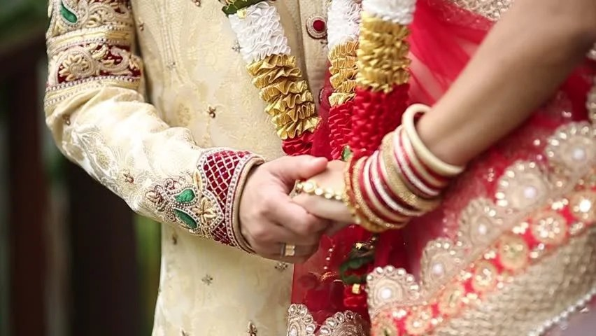 Indian Wedding Bride And Groom Stock Footage Video 100