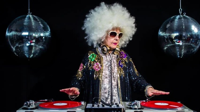 Image result for older woman partying