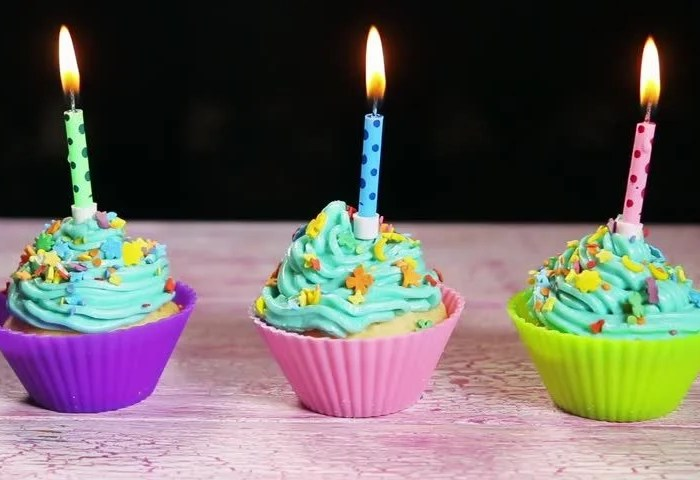 Christmas Cupcakes And Candles Stock Footage Video 100