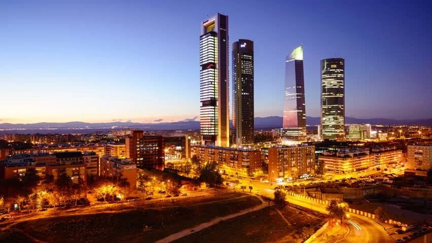 Skyline Of Madrid Spain Image Free Stock Photo Public