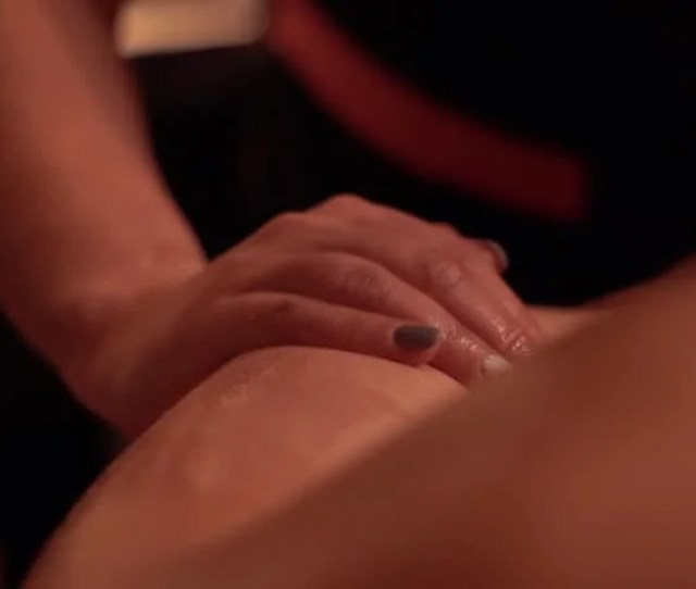 Receiving Body Massage At Spa Club Hands Massaging The Back Full Body Relaxing And Satisfying Candle Massage