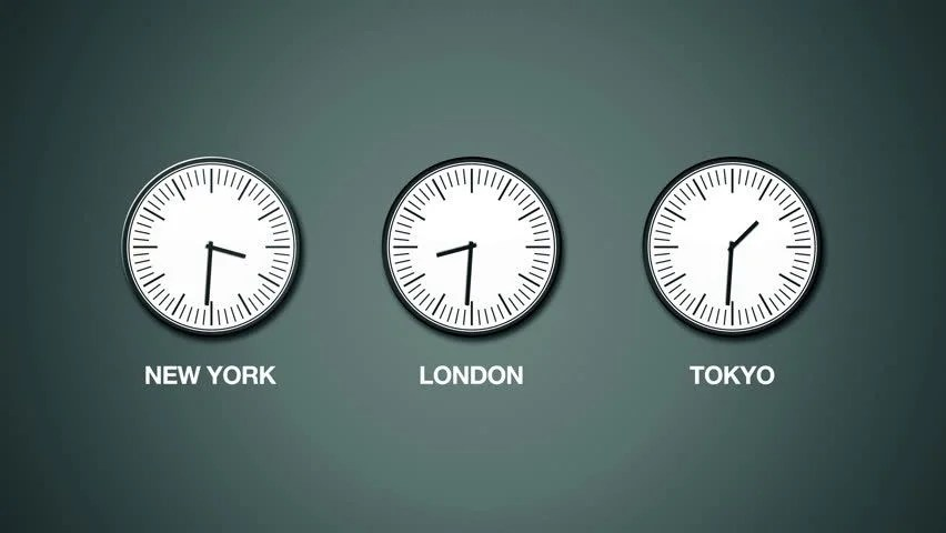 Time Zones Clock 50 Hd Clock Showing Passing Time In