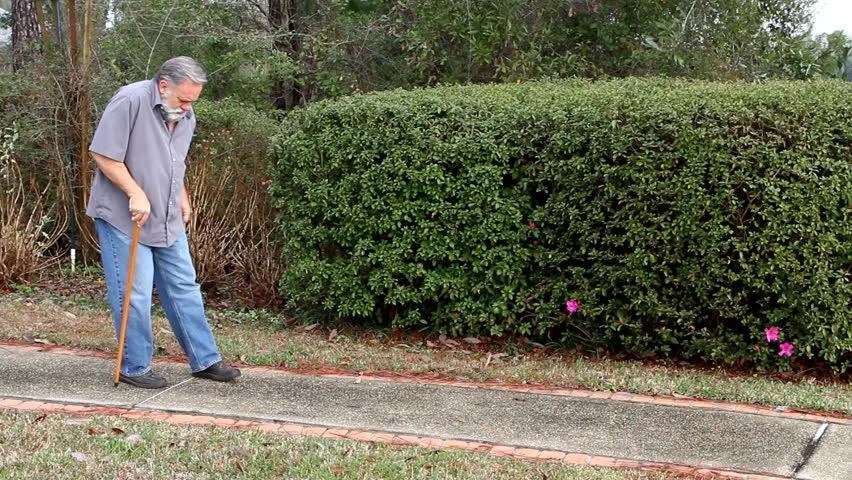 Image result for old person walking