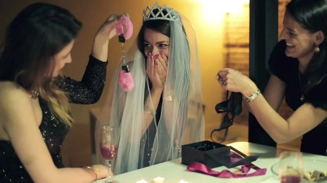 Bachelorette Party Woman Gets Sexy Gifts From Her Friends