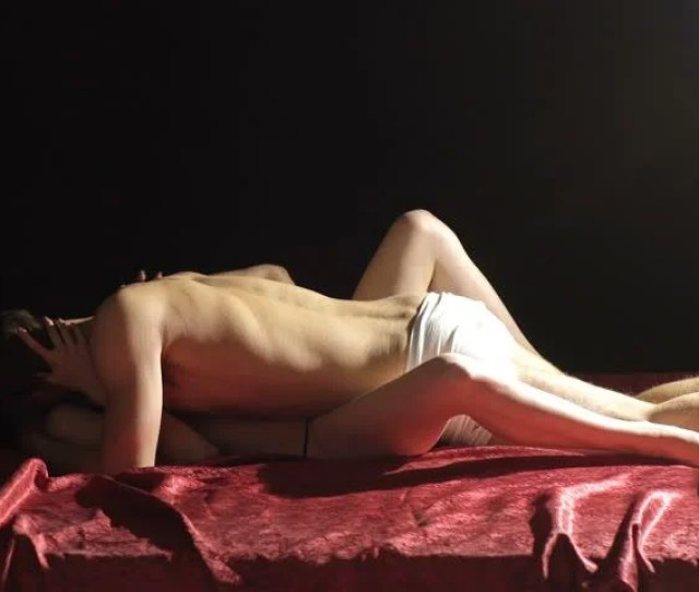 Young Couple Having Sex On The Red Bed Hot Passionate Sex Having Sex