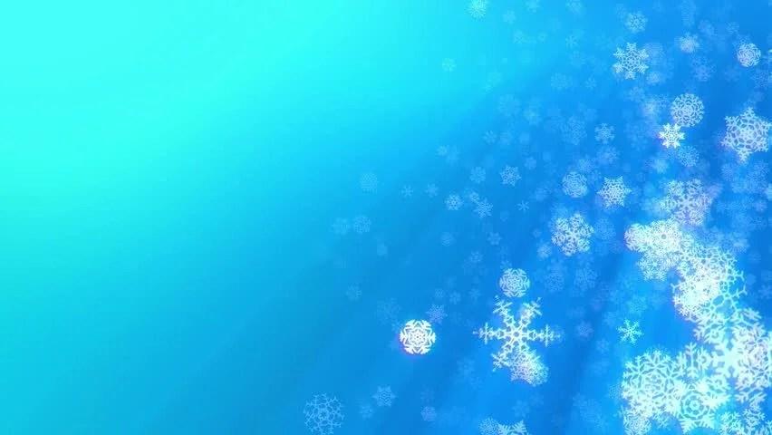 Christmas Snowflakes Loop Aqua Blue Stock Footage Video