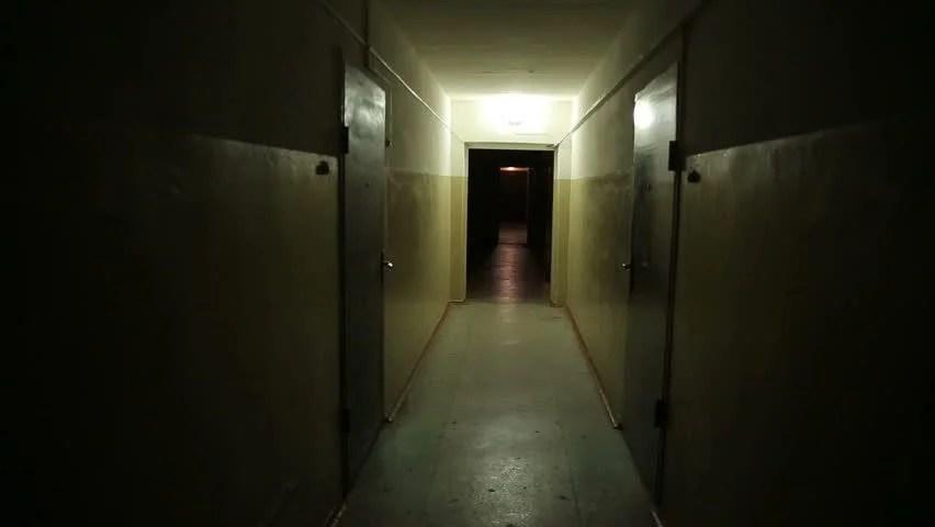 Hospital Spooky Hallway Haunted Abandoned Stock Footage
