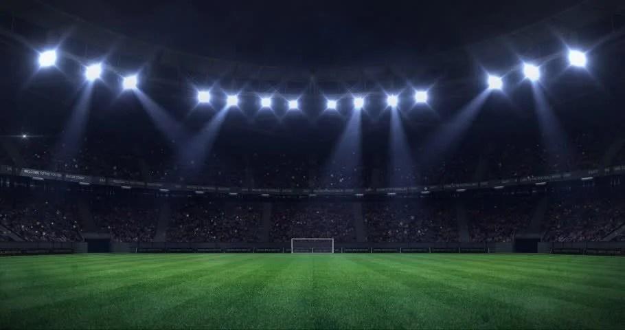 Grand Football Stadium At Night Stock Footage Video 100