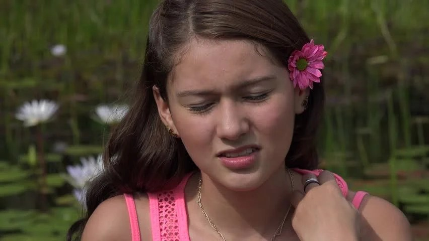 Hot Teen Girl On Summer Day