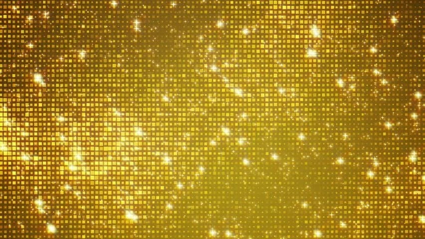 Golden Background And Sparkles Animation Stock Footage
