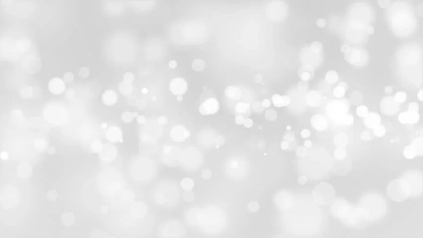 Christmas Silver Background With Stars And Bokeh Falling