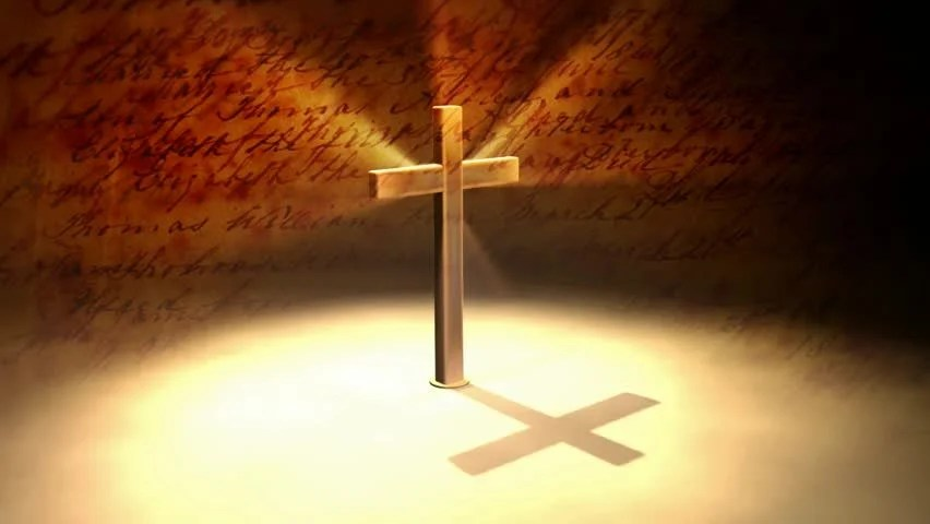 Holy Cross With Candle Stock Footage Video 1438868