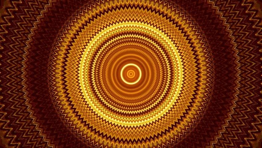 Autumn Kaleidoscopic Animation In Orange And Yellow Colors