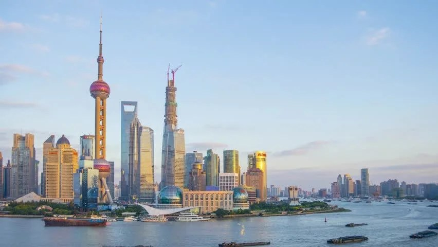 China Shanghai Pudong District Huangpu Stock Footage