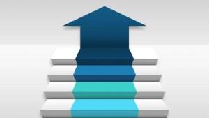 Stock video of four 3d stair step arrow | 15255937 | Shutterstock