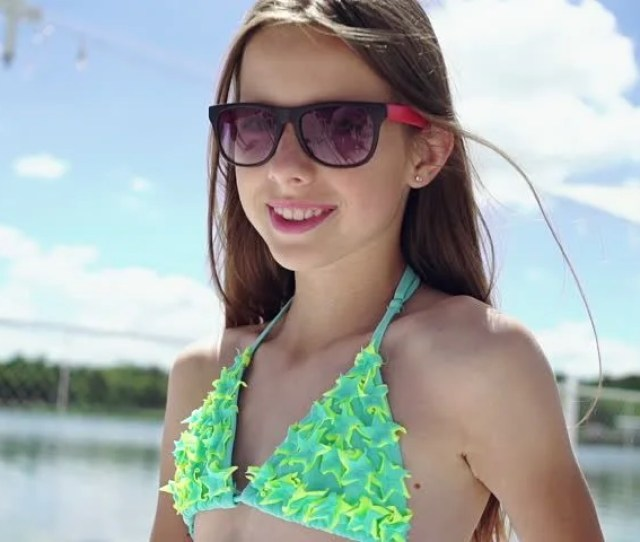 Young Girl In Bikini Moving Stock Footage Video  Royalty Free