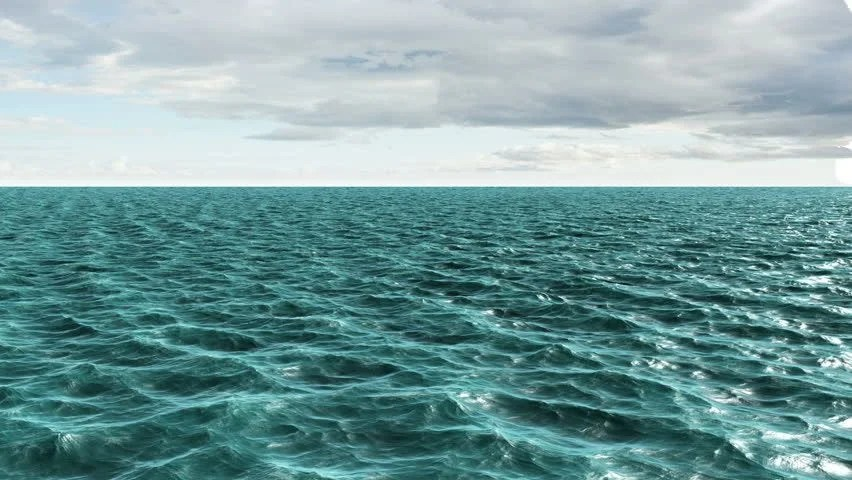 Digitally Generated Blue Ocean Moving Stock Footage Video