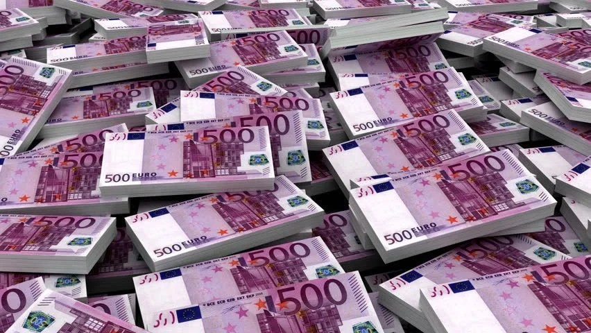 Money Background Euro Loop Able 3d Animation Stock