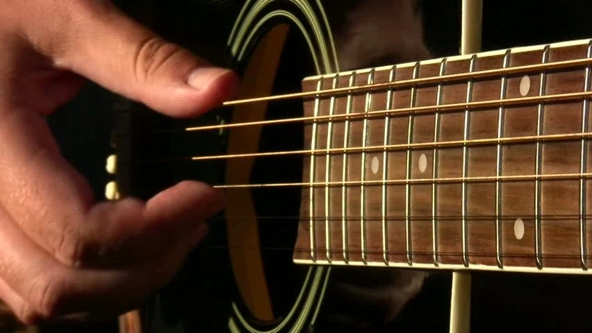 Slow Motion Shot Of Acoustic Guitar Being Smashed In Rage