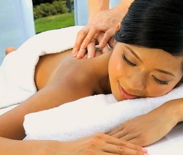 Ethnic Female Enjoying Spa Massage