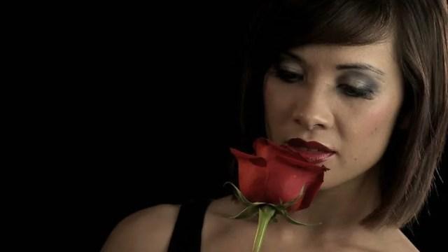 Sensuous Western Oriental Girl In Pose Of Dark Seduction