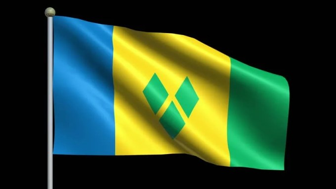 Image result for the animated flag of St. Vincent and the Grenadines
