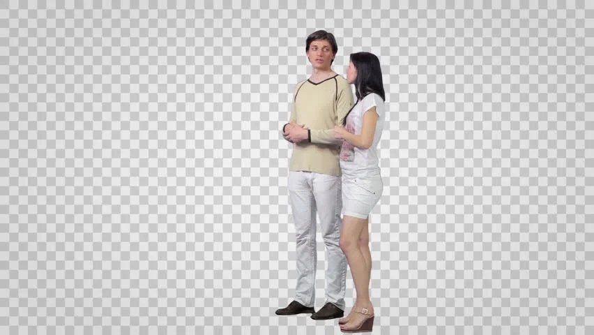 Stock Video Of Male Amp Girl Standing And Looking 8693518