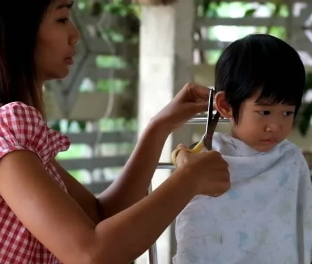 Mother Hair Dresses Her Boy Stock Footage Video 100 Royalty Free 10848569 Shutterstock
