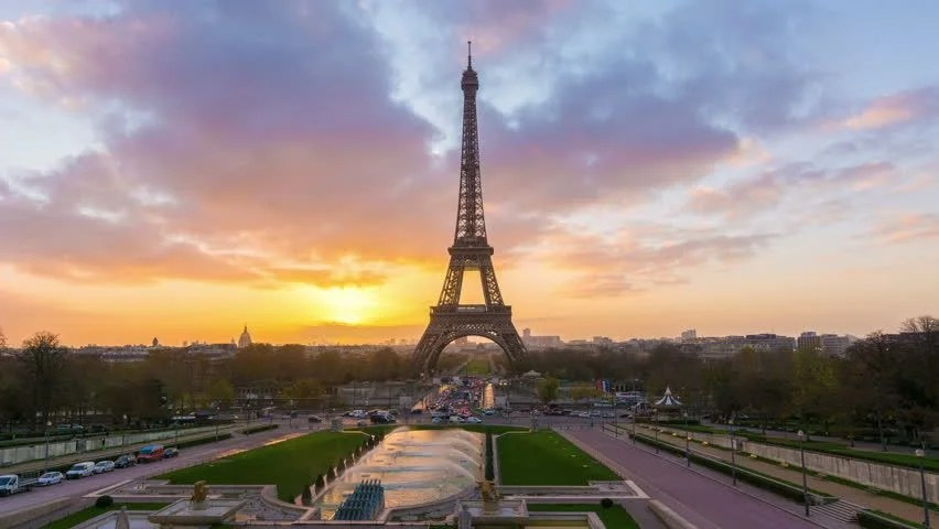 4k Timelapse Of Paris At Stock Footage Video 100 Royalty