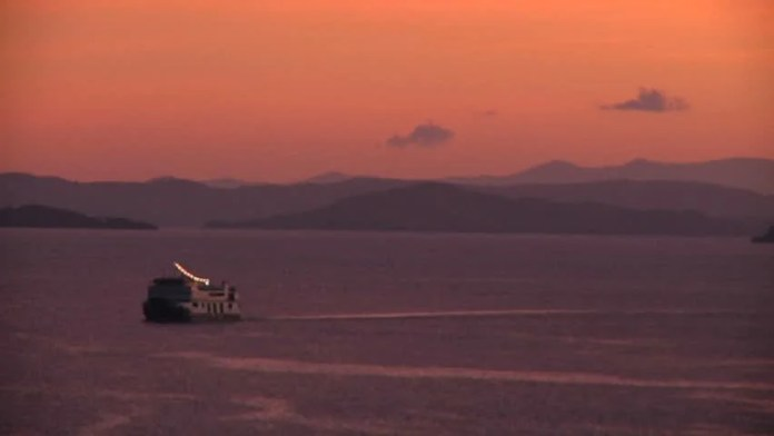 Sunset At Labuanbajo Port, Flores, Indonesia Near Komodo ...