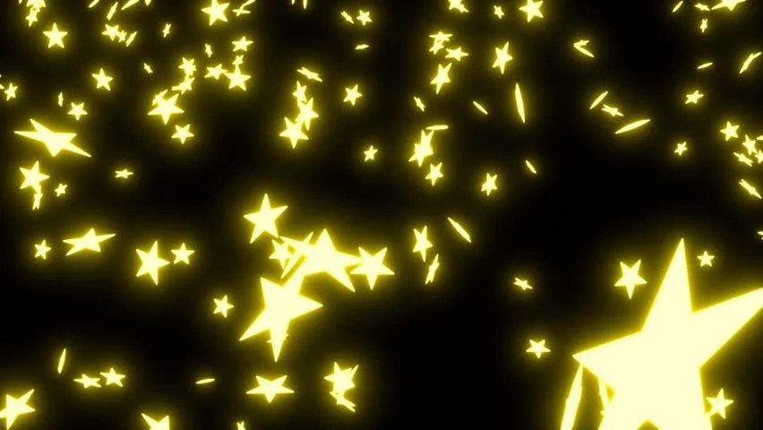 Golden Confetti Falling Down Animation Stock Footage