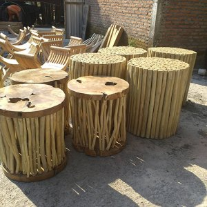 45 JRNR-009 Stool Round Branches