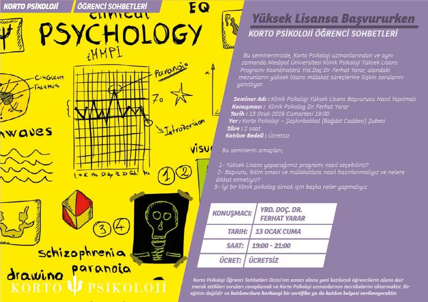 Klinik Psikoloji Yüksek Lisans Başvurusu Nasıl Yapılmalı