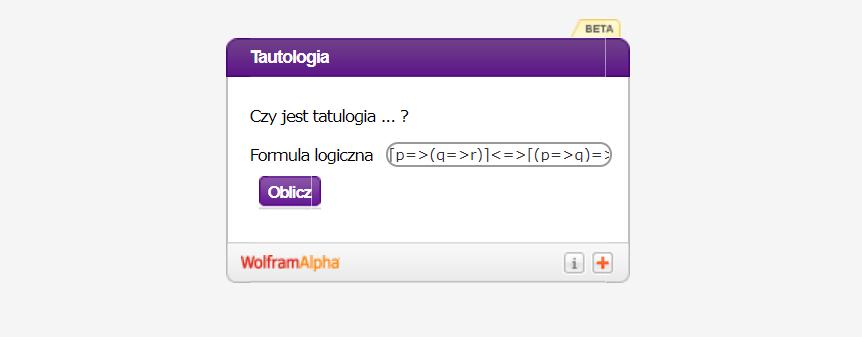 Kalkulator do tautologii