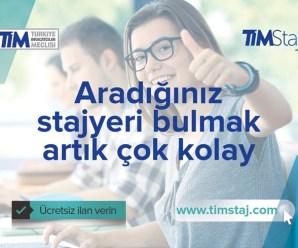 Türkiye İhracatçılar Meclisi'nden Staj Projesi