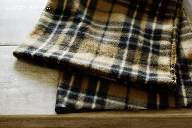 folded ends of fleece