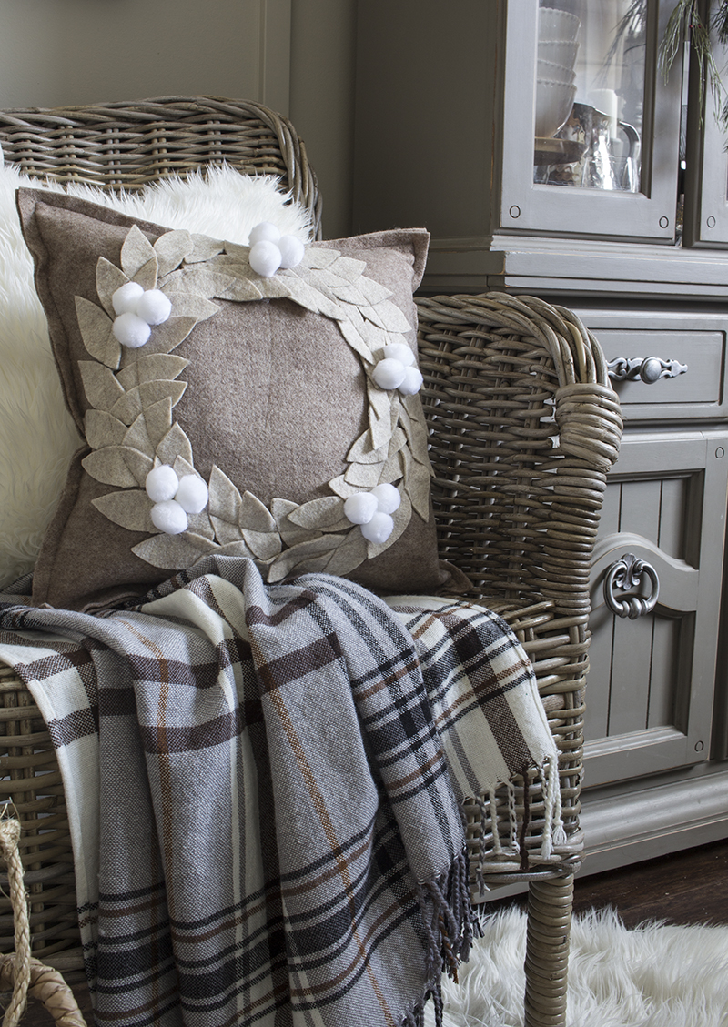 AKA Design Felt Wreath Pillow 1 BLOG PIC
