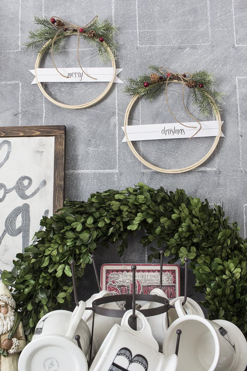 AKA Design Merry Christmas Embroidery Hoop Wreaths BLOG PIC