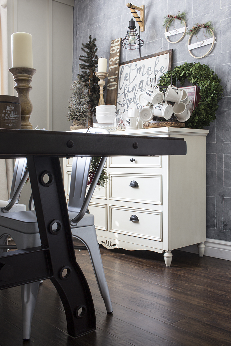 AKA Design Rustic Industrial Dining Room Table Detail 1 and 2 BLOG PIC
