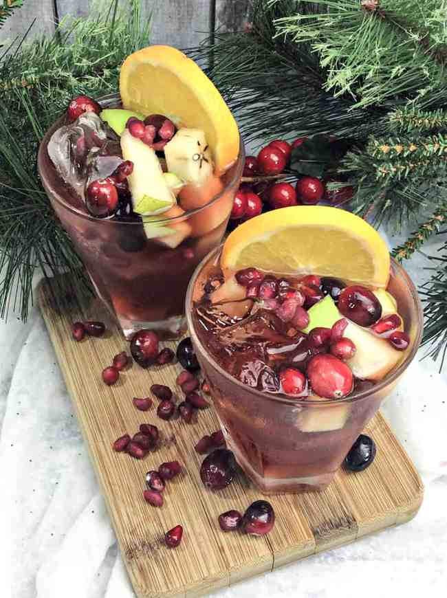 Apple Orange Cranberry Holiday Sangria