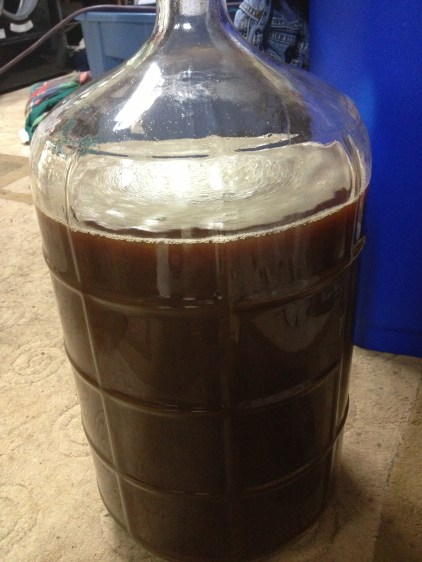 well aerated wort for my brown ale