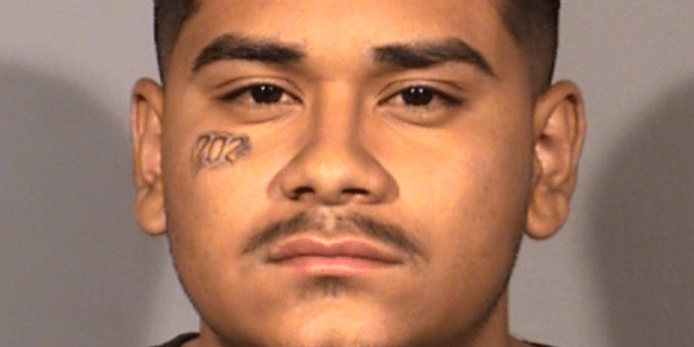 Edgar Samaniego, 20, has been charged with attempted murder in connection with the shooting of a Las Vegas police officer, authorities say. (Las Vegas Metropolitan Police Department)