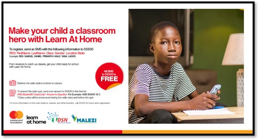1 million disadvantaged school children to benefit from Learn at Home Project by Data Science Nigeria/Malezi in partnership with the Mastercard Foundation lindaikejisblog